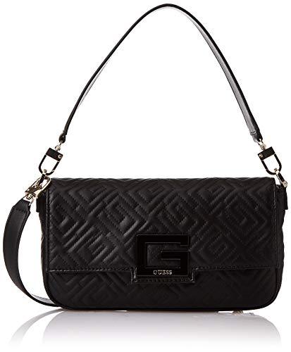 Guess Brightside Shoulder Bag, BOLSOS BANDOLERA para Mujer, Schwarz_schwarz, Schwarz, Taglia unica