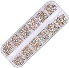2 Colors Crystals AB Nail Art Rhinestones Round Beads Top Grade Flatback Glass Charms Gems