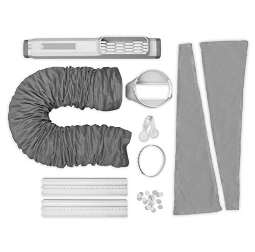 AEG AWK04 Premium Window Kit (Easy to Install, Window Seal Set, Extendible, Textile Seal, Suitable for All Portable Air Conditioners with 15 cm Hose Diameter, Grey/White)