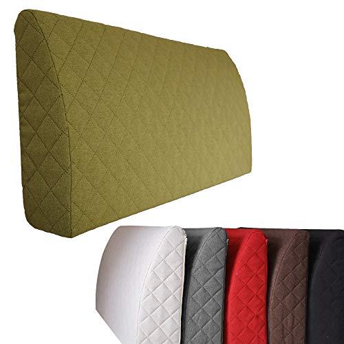 Sabeatex® Rückenlehne für Bett, Sofakissen, Rückenkissen für Lounge-oder Palettenmöbel in 5 trendigen Farben. Länge 90 cm, Höhe 45 cm Farbe: (Grün)
