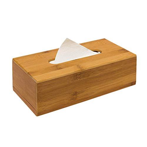 N / C Caja de pañuelos-Bandeja de Papel-Caja de Almacenamiento de pañuelos de Restaurante de bambú-Dispensador extraíble Rectangular-Caja de pañuelos de baño para Sala de Estar Dormitorio Oficina