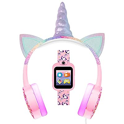 PlayZoom 2 Kids Smartwatch & Headphones - Video Camera Selfies STEM Learning Educational Fun Games, MP3 Music Player Audio Books Touch Screen Sports Digital Watch Gift for Kids Toddlers Boys Girls from American Exchange
