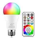 iLCBombilla Colores LED 120 Colores E27 10 Watt RGB Regulable Cambio de Color Edison Control remoto