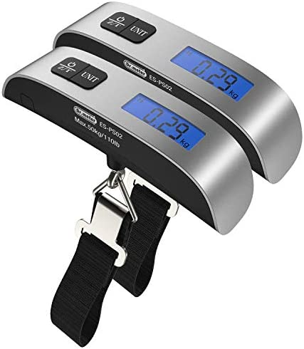 2 Packs of 110lb 50kg Luggage Scale Dr meter Backlit LCD Display Electronic Balance Digital product image