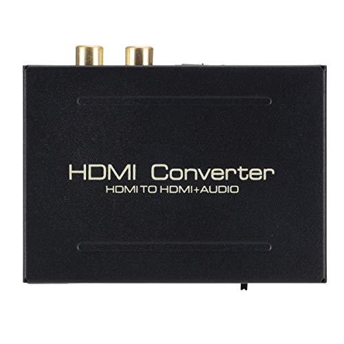Convertidor extractor de audio 1080p, adaptador de vídeo HDMI a HDMI, salida de audio SPDIF RCA L/R, con cable de carga, para reproductor de DVD Blu-ray SKY HD Box PS3 PS4.