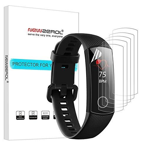 NEWZEROL 6 Stücke Kompatibel für Huawei Honor Band 4 / Band 5 Bildschirmschutzfolie TPU Hochauflösende, Kratzfeste Anti-Fingerabdruck-Schutzfolie für Huawei Band 5
