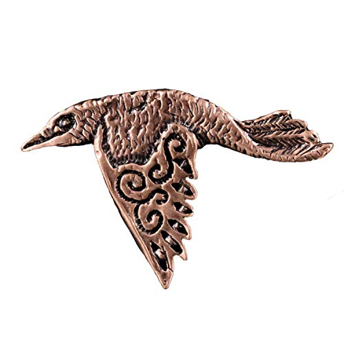 Creative Pewter Designs Celtic Raven Bird Copper Plated Lapel Pin, Brooch, Jewelry, GC25