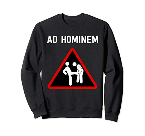 Ad Hominem Logischer Fehlschluss - Design für Philosophen Sweatshirt