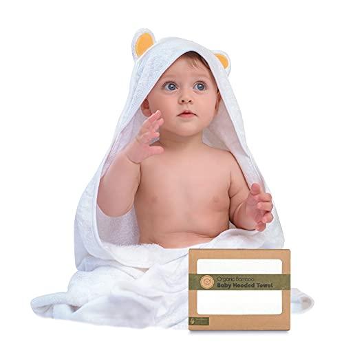 Baby Hooded Towel - Bamboo Baby Towel by KeaBabies - Organic Bamboo Towel -...