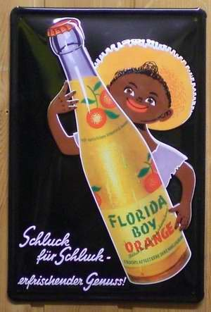 Blechschild Florida Boy Orange Schild Werbung