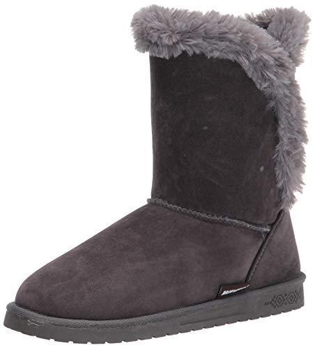 MUK LUKS womens Pull Fashion Boot, Dark Grey, 11 US