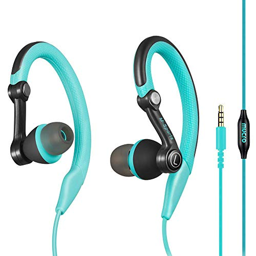 mucro Running Headphones Over Ear in Ear Sport Earbuds Earhook Wired Stereo Workout Ear Buds for...