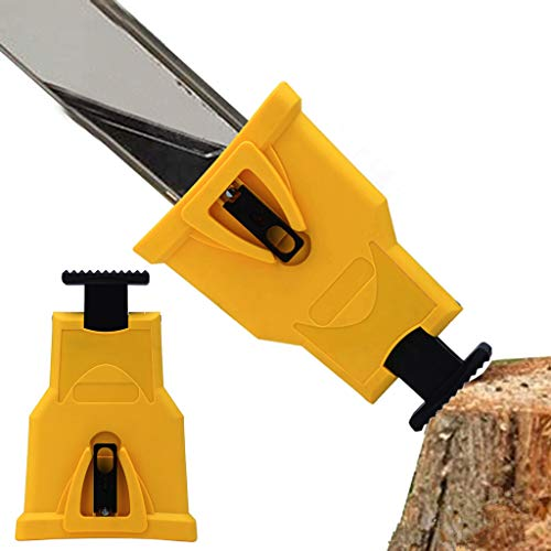 Weite Portable Proprietary Chainsaw Saw Chain Sharpener Fast-Sharpening Stone Grinder Tools (Yellow)