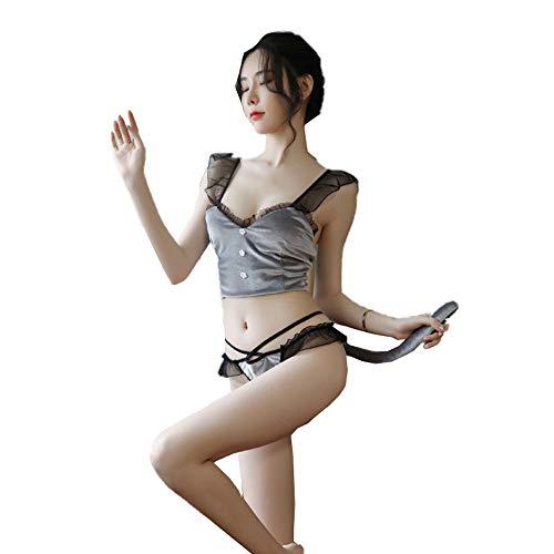 Erotisch Ondergoed Sexy Lingerie Vrouwelijk Uniform Verleiding Chiffon Liefde Holle Out Kat Meisje Sexy Kostuum Bh Schattige Uniform Verleiding Nachthemden
