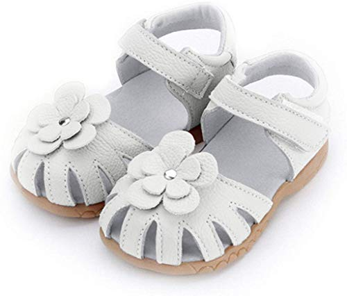 HILEELANG Toddler Genuine Leather Soft Closed Toe