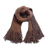 秋冬のロングタッセル両面無地スカーフウールを模して厚みを増し暖かさを増すビッグショールトングルスカーフ