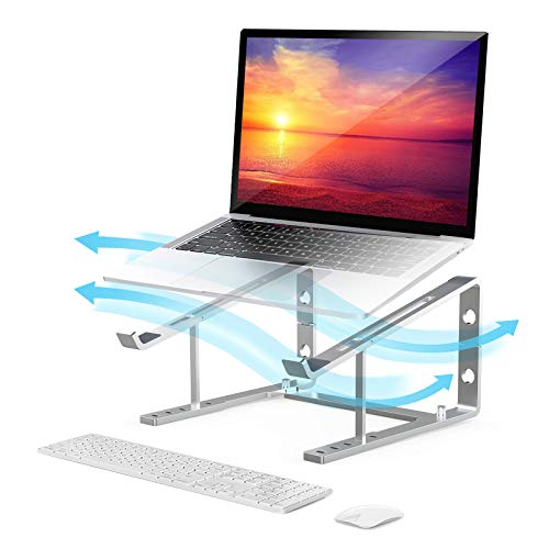 Adjustable Laptop Stand, Ergonomic Computer Stand Holder,5 Angles Adjustable ,Supports up to 66Lbs Heavy Duty Notebook Riser.