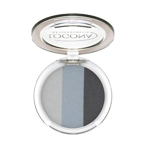 LOGONA Naturkosmetik Eyeshadow Trio No. 01 Smokey, Natural Make-up, Lidschatten, abgestimmte Farben, mit Anti-Aging-Wirkung, Bio-Extrakte, Vegan, 4 g