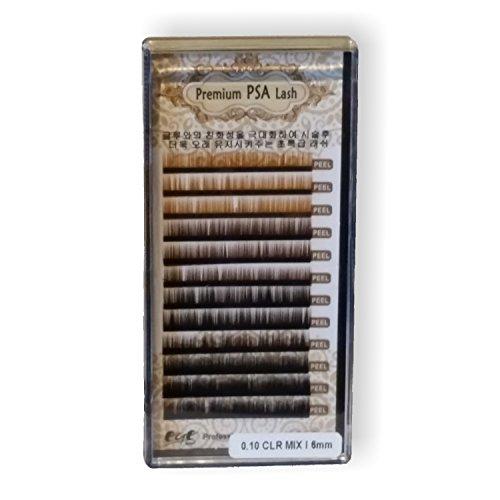 künstliche Augenbrauen Einzelhärchen + Kleber 5 ml Premium PSA Lash Augenbrauenverdichtung Farben gemischt