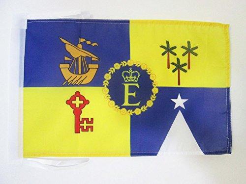 AZ FLAG Flagge KÖNIGLICHE STANDARTE VON Mauritius 1978-1991 45x30cm mit Kordel - Mauritius Fahne 30 x 45 cm - flaggen Top Qualität