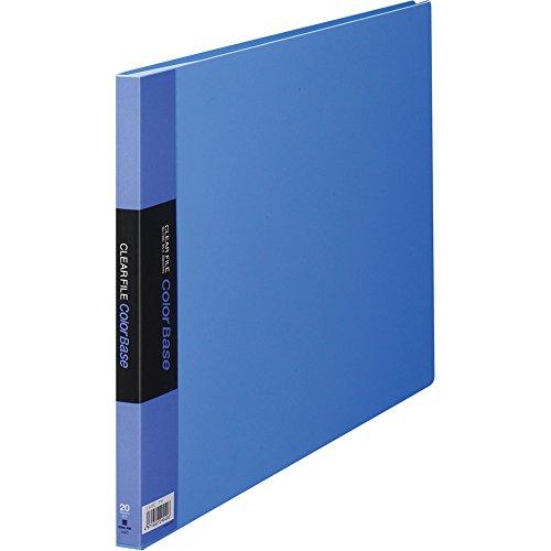 キングジム クリアファイル カラーベース B4ヨコ 20枚 ブルー 140C