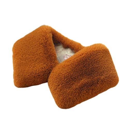 JERKKY sjaal 1 stuk Womens Faux konijn bont trui Valse nep kraag sjaal vierkante afneembare
