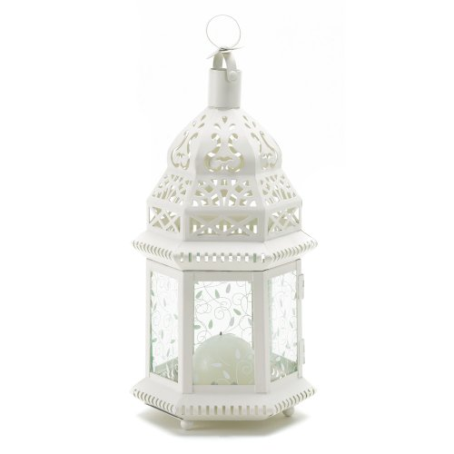 Mid White Moroccan Lantern