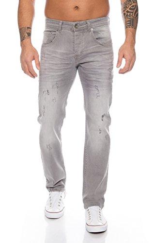 Rock Creek Herren Jeans Destroyed Grey RC-2105 [W36 L34]