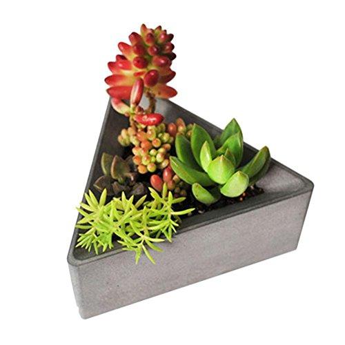 Sincey Silicone vormen, driehoekig, voor planten, betonvorm, bloempot, zeep, voor meerdere vetplanten, modern, geometrische driehoek, siliconen, plantenpot