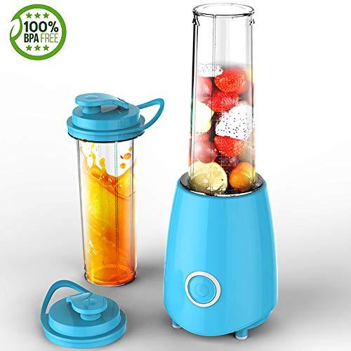Cpippo Küchenmaschine Multifunktional, Babynahrungszubereiter mit 21000 U/min 300 W Reinkupfermotor, 500ml Paar Doppelbecher Geeignet für EIS, Entsaften, Rühren, Mahlen, Kein BPA