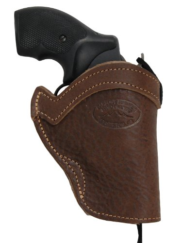 Barsony Brown Leather Western Style Holster for Taurus 605 650 Right