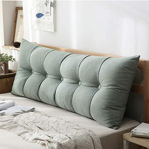Headboard Cushion cuscino a cuneo Testiera Cuscino Testiere Testiera Cuscino Casa Lino Schienale Divano lavabile Custodia morbida Facile da pulire, 8 colori (80 * 60CM, 100 * 60CM, 120 * 60CM) cuscino
