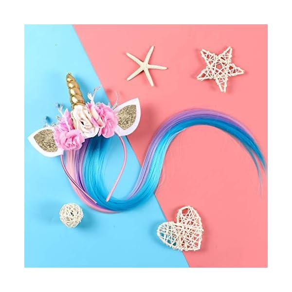 Lorfancy Unicorn Headband for Girls Unicorn Costume Birthday Halloween Party Unicorn Party Supplies Favors 7