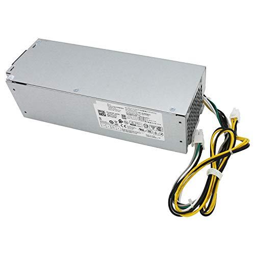 S-Union L240ES-00 - Fuente de alimentación de repuesto para Dell OptiPlex 3050 5050 7050 Mini Tower H240ES-02 B240AM-02 J61WF DK87P F484X DW3M7 HT04K (6 pines + conector de 4 pines)