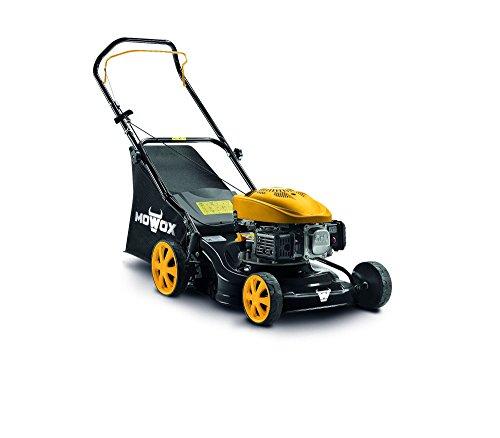 Mowox PM 4135 P, handbetriebener Benzinrasenmäher, min. 1,6 kW/2800 rpm, 41 cm, 50l Grasfangsack, kugelgelagerte Räder