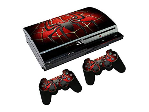 Playstation 3 Free Import shipping anywhere in the nation Fat Console Skin Set - Printing Vin Dark HD Spider