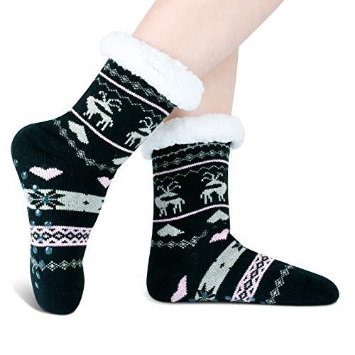 Women's Winter Socks 5 Pairs Thick Wool Soft Warm Casual Socks Vintage...
