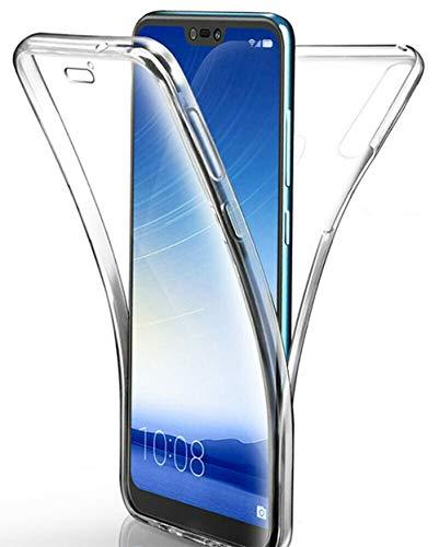 hongping 360 Grad Hülle kompatibel mit Xiaomi Redmi S2, Full Cover vorne & hinten Rundum Doppel-Schutz, Dünnes Ganzkörper Case Silikon Etui, Transparenter Displayschutz & Rückseite