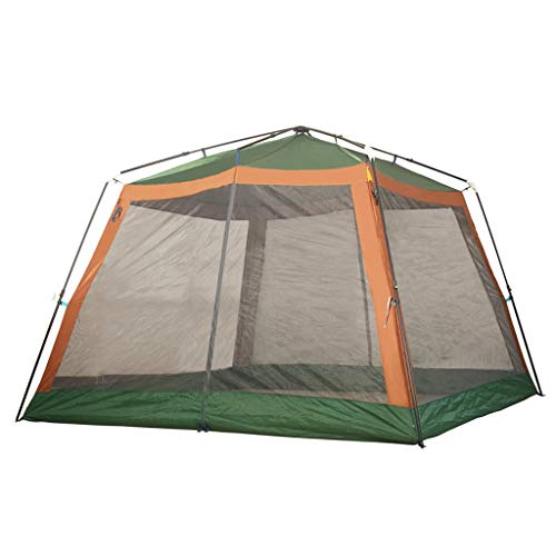 Tents Automatic Pop Up Camping Tent 8 Person Family Tents,Big,Easy Up, Large Mesh Door,Waterproof, Sunscreen Outdoor Tent (Color : Green)