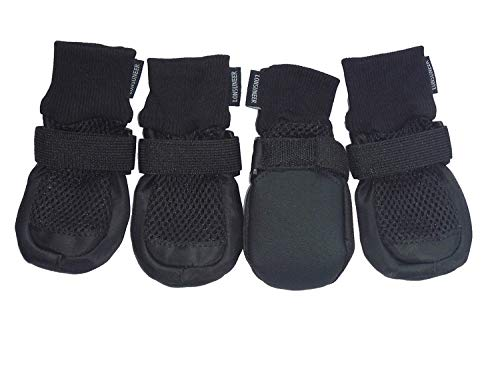 LONSUNEER Paw Protector Dog Boots Set of 4...