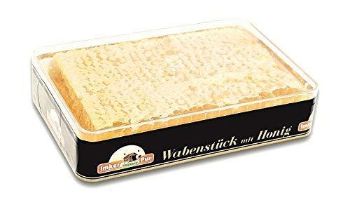 ImkerPur® Wabenstück in hocharomatischem Akazien-Honig, 4er-Set, jeweils 400 g (gesamt 1600g), in hochwertiger, lebensmittelechter Frische-Box