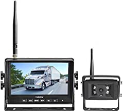 Haloview MC7108 Wireless RV Backup Camera System 7'' Monitor Built in DVR Rear View Camera with Infrared Night Vision and Wide Viewing Angle for Truck/Trailer/RV/Pickups/Camping Car/Van/Farm