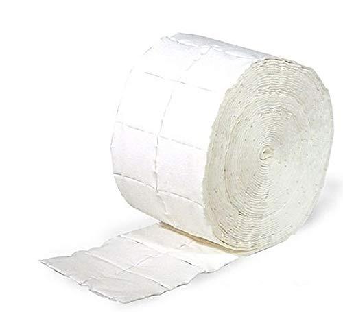 2x Rollen Kosmetex Zellstofftupfer Zelletten, Tupfer aus hochgebleichtem Zellstoff 12-lagig, 5x4 cm, 1000 Stück, 2 Stück