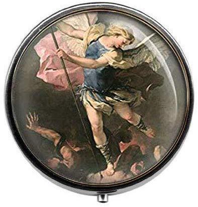 The Archangel Catholic Religious Protect Jewelry - Pastillero de cristal, diseño de...