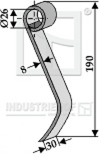 Schlegel Mulchermesser 63-MAS-57 passend für Maschio Mulcher
