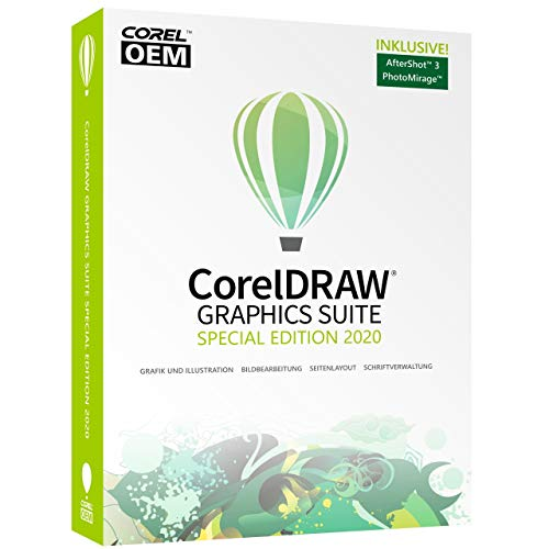 COREL CorelDRAW Graphics Suite Special Edition 2020 OEM inkl. AfterShot 3 + PhotoMirage Express DVD-Box