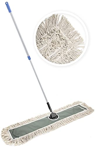 JINCLEAN 36' Industrial Class Cotton Floor Dust Mop | Dry to Attract Dirt,...