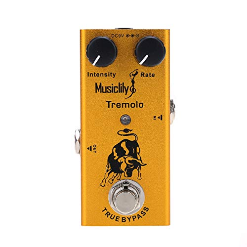 Musiclily Basic Mini Chitarra Elettrica Effetto Pedale DC 9V Adapter Powered True Bypass, Tremolo