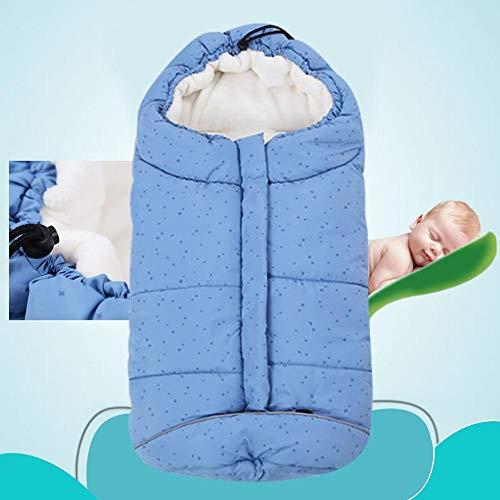 Slaapzak voor baby/kinderen, katoen, babydeken, multifunctioneel, warm en winddicht, maat: 82 cm Blauwe ster