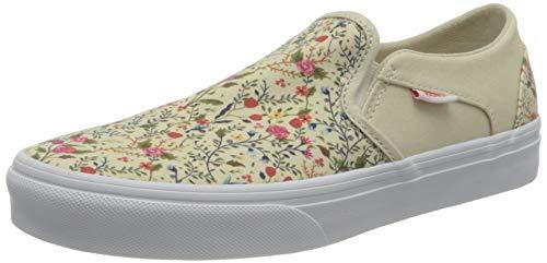 Vans Damen Asher Sneaker, (Ditzy Floral) Turtledove/White, 39 EU